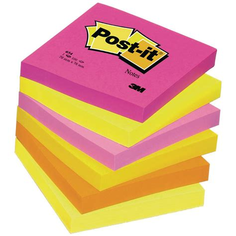 post it post it 174 post it notes package 6 pads staples 174