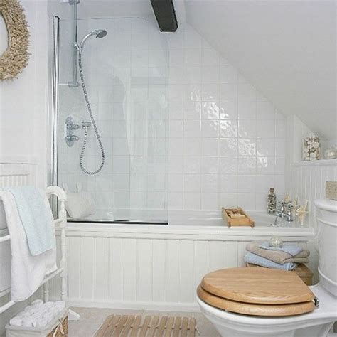 sloping ceiling shower curtain rod search attic