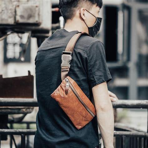 leather mens fanny pack waist bag hip pack belt bag bumbag  men iwalletsmen