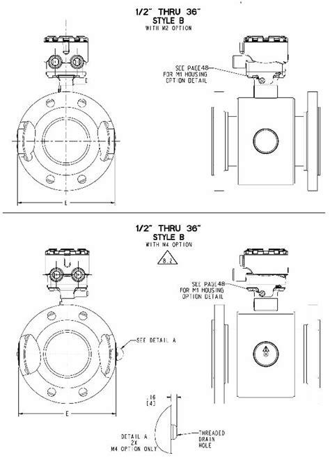 Rosemount 8705 Flanged Magnetic Flow Meter Sensors
