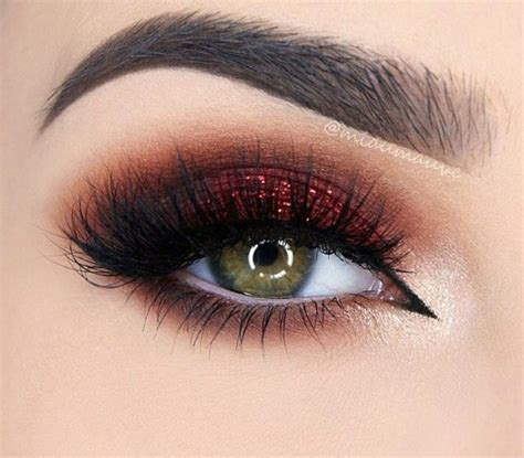 maroon smokey makeup reds maquillaje maquillaje