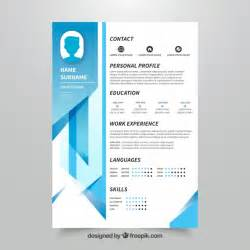 templates de curriculo para download curriculum template with geometric design vector free