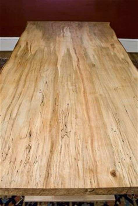 Custom Made Ambrosia Maple Dining Table, Live Edge by