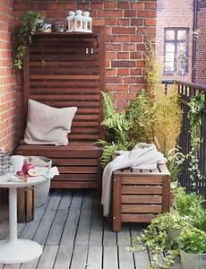Balkon Bank Ikea : pomys y na aran acj meble i dodatki na balkon balkonowe inspiracje ogr d ~ Frokenaadalensverden.com Haus und Dekorationen