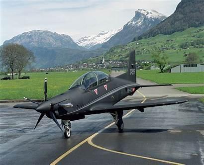 Pilatus Pc Aircraft Cockpit Trainer Tandem Wing