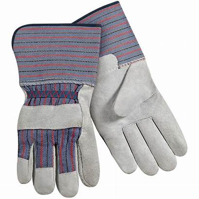 Leather Palm Cuff Gloves Split Standard Cowhide