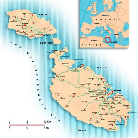 malta maps printable maps  malta