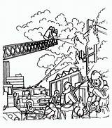 Fire Coloring Building Burning Fireman Pages Drawing Firemen Extinguish Try Drawings Kidsplaycolor Sheets Getdrawings Printable Safety Drawin sketch template