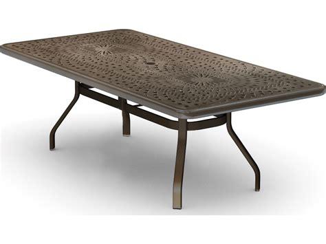 Outdoors Tables : Homecrest Camden Cast Aluminum 84 X 42 Rectangular Dining