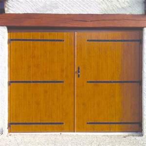 portes de garage 2 vantaux en bois pvc ou aluminium With porte garage bois 2 vantaux
