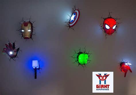 super cool avengers 3d wall deco night lights 3dlightfx