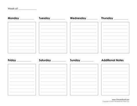 weekly calendar template improve  productivity