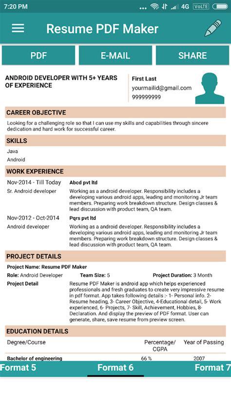 Resume Pdf Maker  Cv Builder  Android Apps On Google Play. Resume Sales Associate Objective. Project Manager Resume Format. Sample Management Resumes. Sarmsoft Resume Builder. Resume Format Engineering. Photographer Sample Resume. Warehouse Job Description Resume. Sample Resume For Junior Accountant