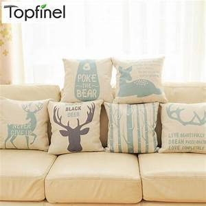 top finel 2016 deer decorative throw pillows case linen With best deals on throw pillows