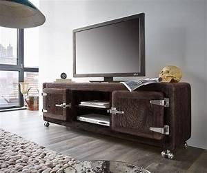 Tv Lowboard Mit Rollen : fernsehtisch zakarya akazie tabak 155 cm rollen 2 t ren massiv lowboard ~ Bigdaddyawards.com Haus und Dekorationen