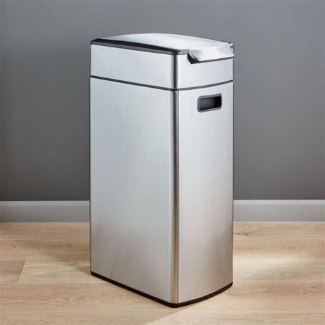 simplehuman 40 Liter/10.5 Gallon Slim Touch Bar Trash Can