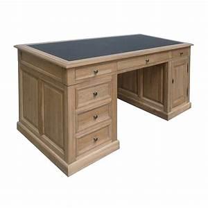Bureau En Bois Massif : bureau ch ne massif meuble classique haut de gamme louise ~ Teatrodelosmanantiales.com Idées de Décoration