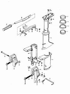 Chrysler 4 9 Hp  1975  Motor Leg Parts