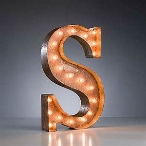 letter s vintage marquee lights touch of modern With marquee letter light bulbs