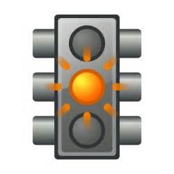 clipart yellow traffic light