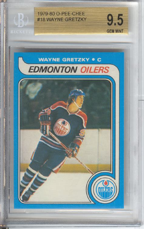 gretzky wayne rookie card cards hockey opc pee fake chee bgs most kings trading canadianhockeycards canadian