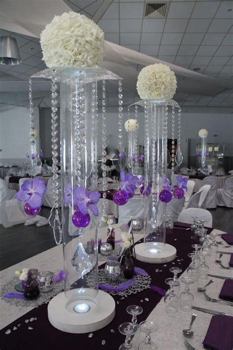 mariage violet blanc et argent soir 233 e ou mariage en couleur