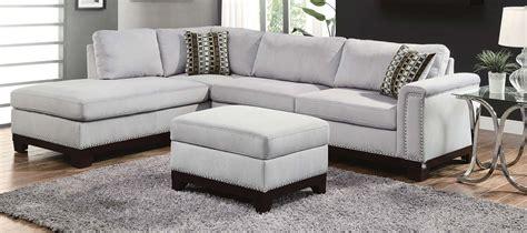 plantation home interiors coaster sectional sofa set blue grey 50361 sofa bg