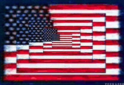 Flag American Psychedelic Spin Artist Peekasso Puts