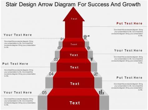 stair design arrow diagram  success  growth flat