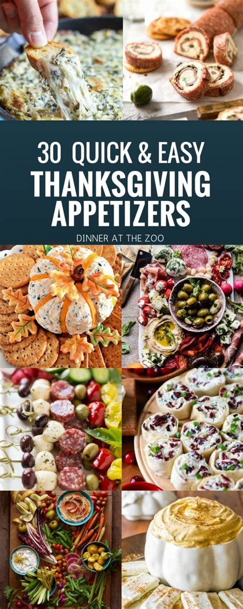 easy appetizers for thanksgiving 30 thanksgiving appetizer recipes dinner at the zoo