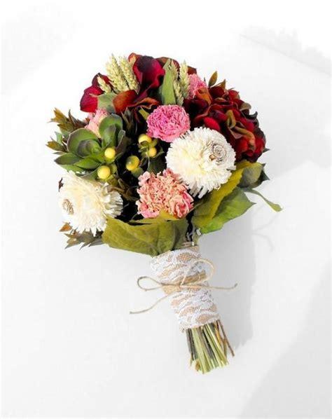 dried flower bouquet silk flower wedding bouquet bridal