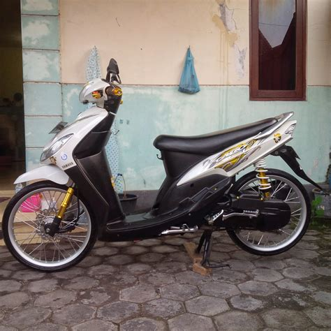 Modifikasi Mio Sporty Murah by Modif Mio Sporty Minimalis Modifikasi Motor Kawasaki