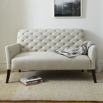 Camille Tufted Settee by Camille Tufted Settee Ottomans Benches Restoration