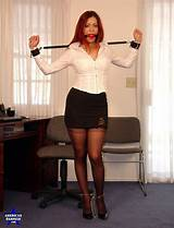 Bondage office secretary tying up