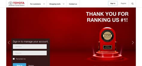 Toyota Financial Payment Login by Southeast Toyota Finance Login Archives Bill Payment Guide