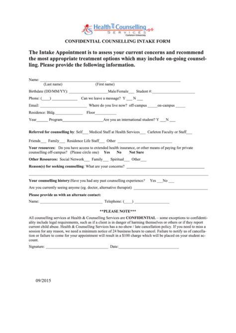 intake form templates
