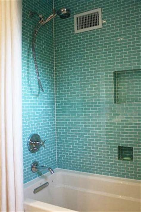 s bathroom on tile glass tiles and walk