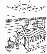 Sunrise Coloring Designlooter 687px 21kb sketch template
