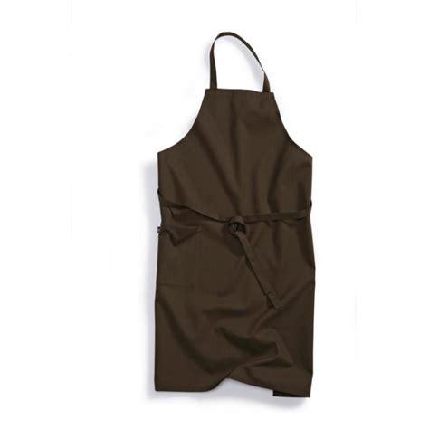 blouse femme de chambre hotellerie tablier bavette 1781 400 43 bp chocolat vêtement