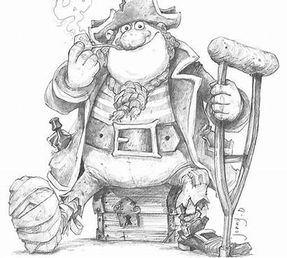 Pirate Duddle Jonny Character Wallace Drawing Gromit