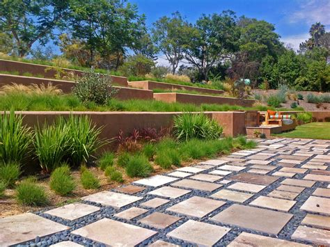 drought tolerant backyard designs a weed filled quarter acre front yard was modernized into a sophisticated park like setting with