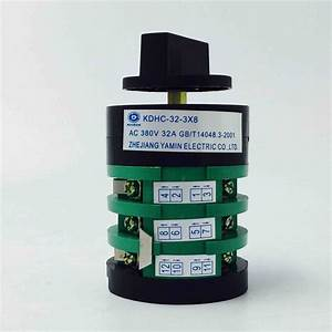 Kdhc Series Welder Switch Electric Changeover Cam Rotary Switch Co2 Gas Welding Machine Switch