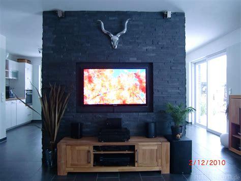 steinwand wohnzimmer ideen steinwand selbst gemacht im