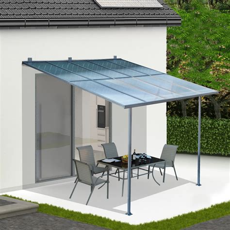 Outdoor Canopy by 3 X 3m Wall Mounted Canopy Outdoor Awning Aluminuim Sun
