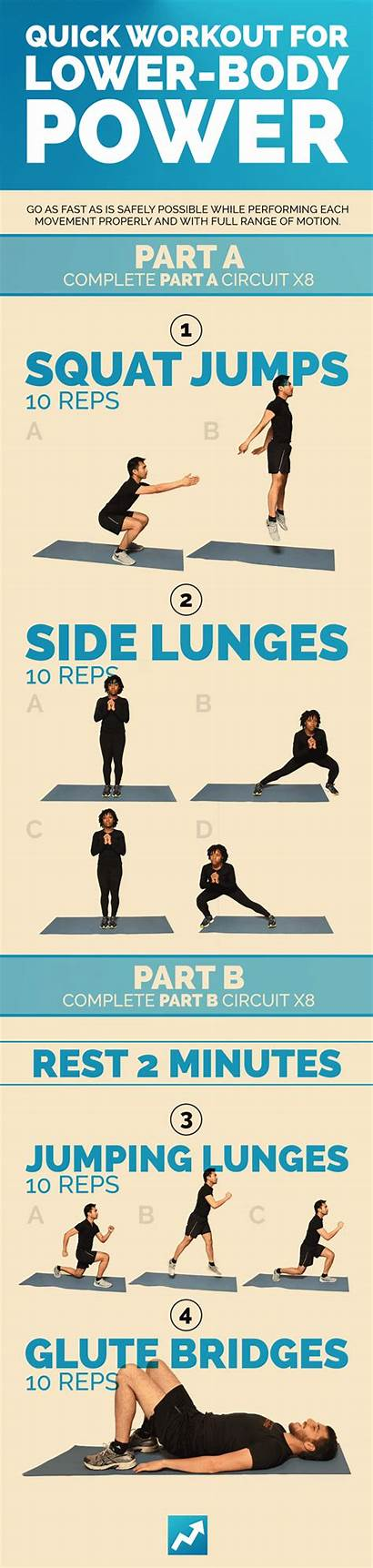 Workout Workouts Quick Lower Buzzfeed Power Exercises