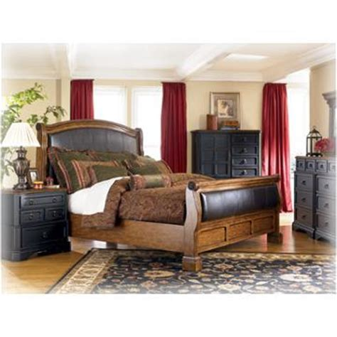 ashley furniture rowley creek bedroom king sleigh