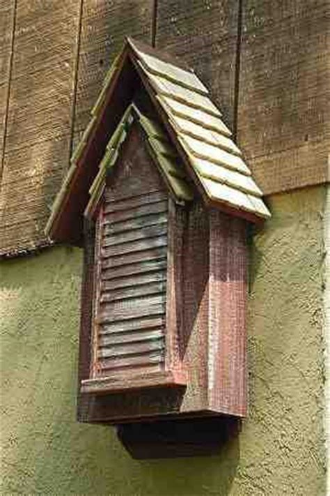 victorian bat house double chamber  heartwood