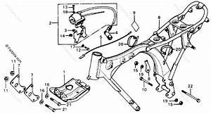 Honda Motorcycle 1978 Oem Parts Diagram For Frame