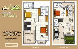 Cantt Villas Multan Floor Plan 35 Marlas 3 Bedrooms Fjtown