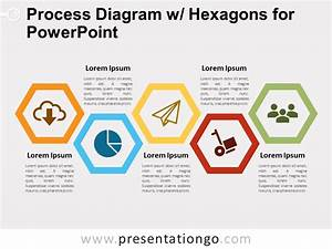 Process Diagram W   Hexagons For Powerpoint